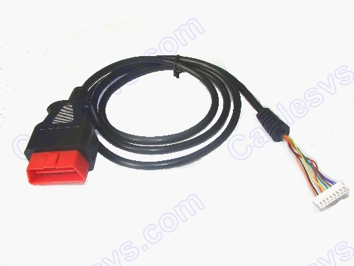 OBD2 male to 2.54 8Pin Housing