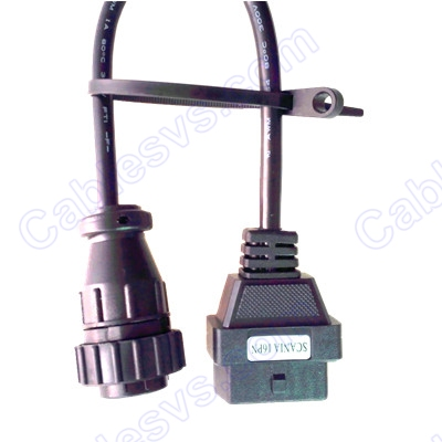 OBD2 female to DB 16pin female for Scania