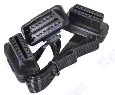 Low Profile Left or Right Angle OBD2  to Y Splitter Cable