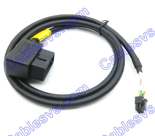 Right angle OBD2 Male to Molex extension Cable