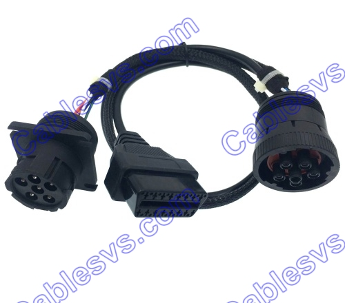 heavy duty industrial connector Deutsch connectors J1939 to obd2 adapter Y Cable