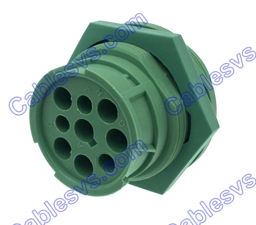 Deutch 9pin male J1939 connector green  new type