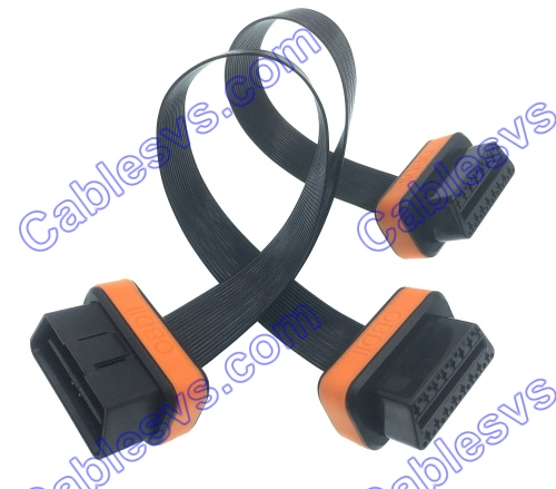 OBD male to female ribbon cable OBD extension flat cable textil cable