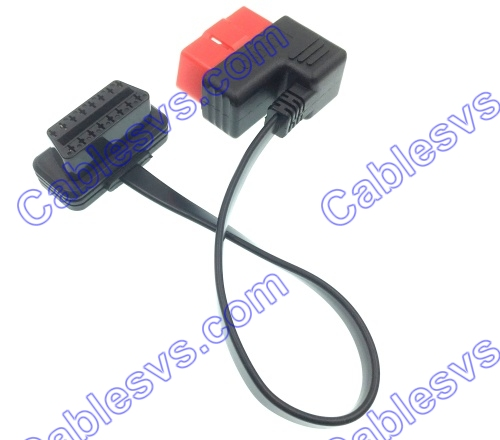 OBDII Male to Female Cable right angle j1962 male to j1962 female cable