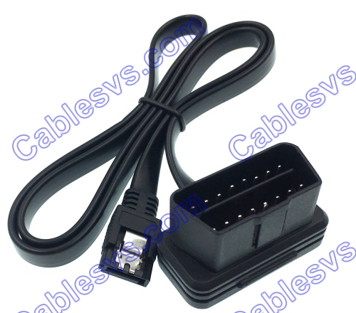 Low profile  obd to SATA noodle cable obd2 test cable