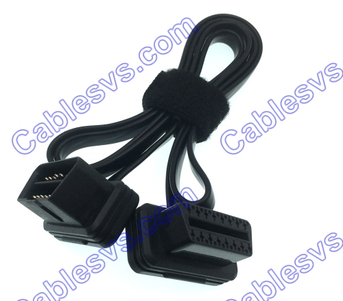 24V 16PIN OBD2 OBDII Male to Female Extension Cable